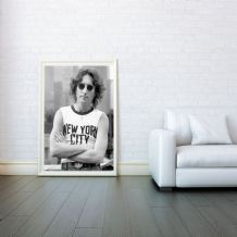 John Lennon, New York, Decorative Arts, Prints & Posters, Wall Art Print, Poster Any Size - Black and White Poster
